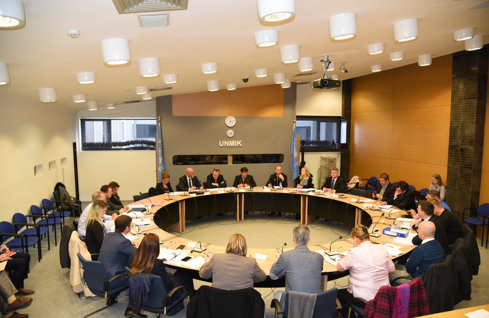 Pristina, 3 March 2016 - UNMIK hosts an Anti-money laundering and counter-terrorism financing discussionnti-money laundering and counter-terrorism financing discussion in UNMIK Headquarters - UNMIK | ©UNMIK Photo: Shpend Berbatovci