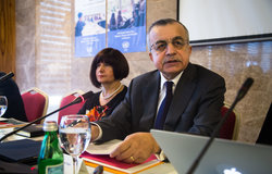 SRSG Zahir Tanin gives his opening remarks during the fifth UN Global Open in Kosovo.